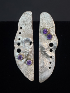 Amethyst reticulated silver
