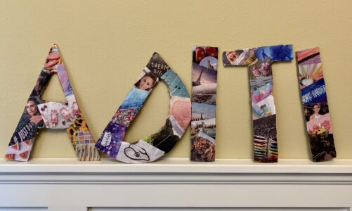 Easy DIY Lettered Collage Project