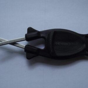 Black with Black Anti slip grip knife sharpener for sale online.