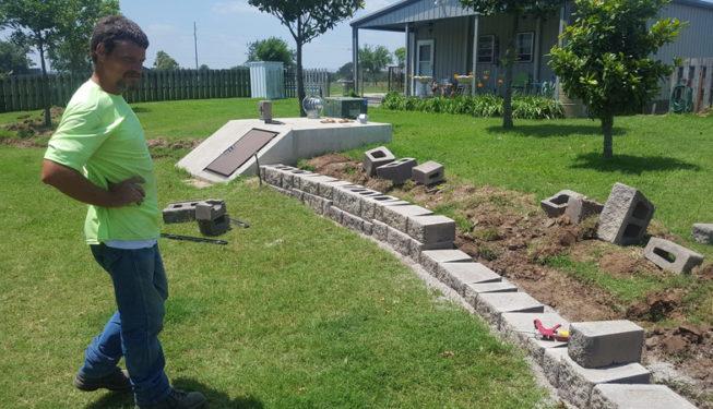 Laying Retaining Wall