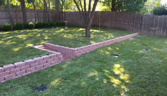 Finished Sod & Wall