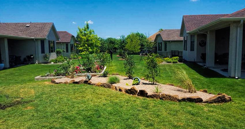 Sod + Flower Beds = Beautiful Yard