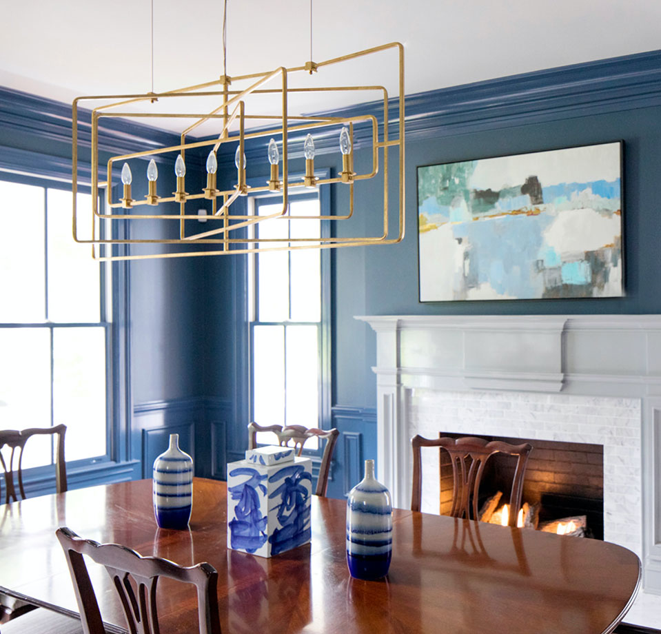 dining room interior design Ridgefield, Connecticut