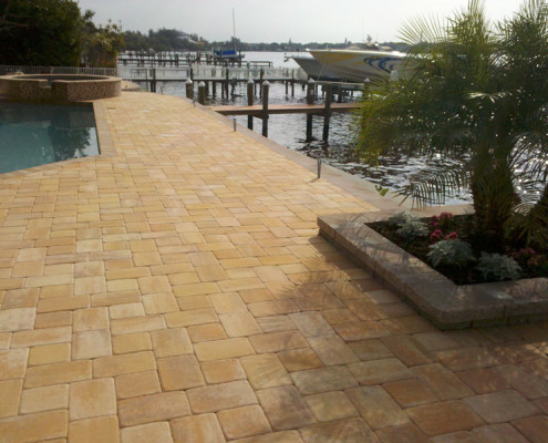 brick paver pool patio 7