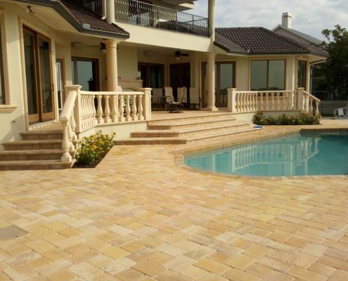 brick paver pool patio 4