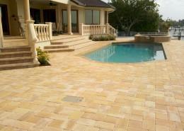 brick paver pool patio 3