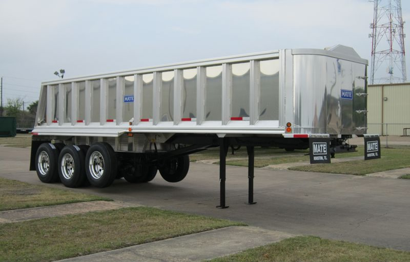 2020 MATE 30 ft Semi-Frameless Tri-Axle End Dump Trailer For Sale
