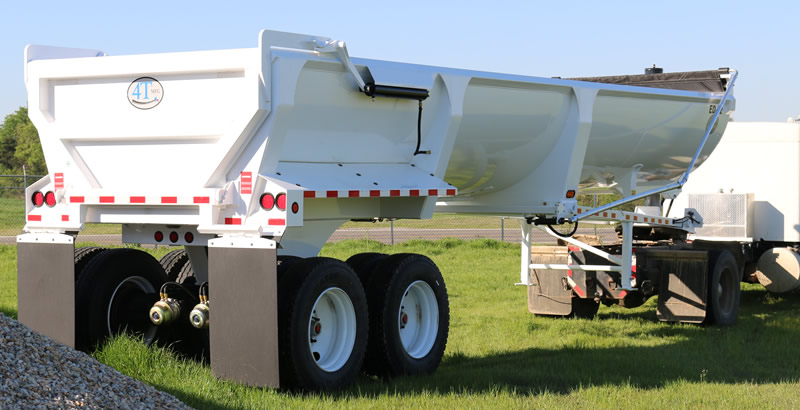 4T MFG ED 32 End Dump Trailer - White