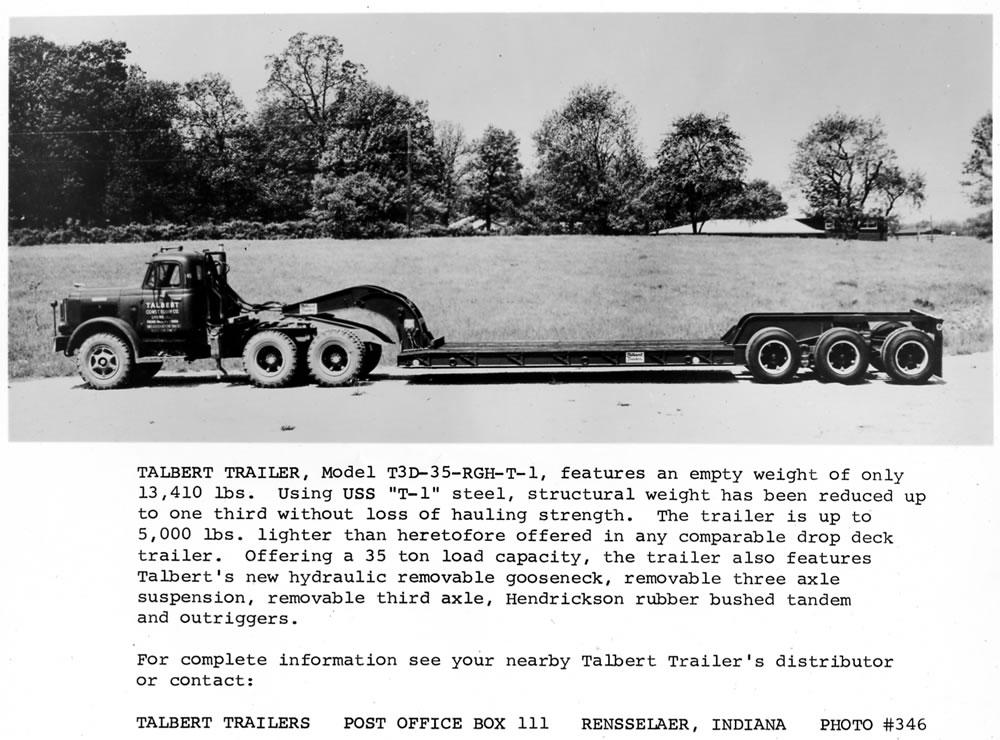 Talbert Trailer Model T3D-35-RGH-T-1