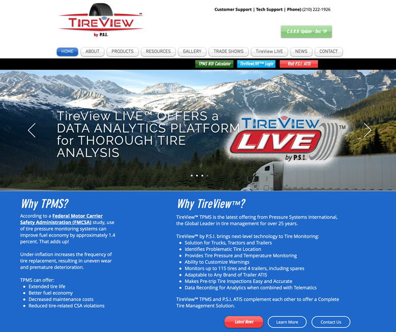 TireView Tire Pressure Monitoring System by PSI