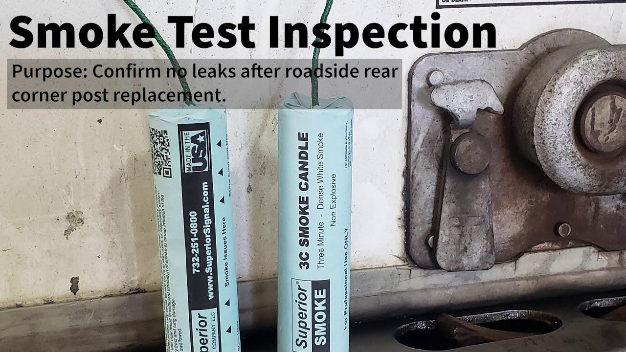 Smoke Testing a Dry Van Trailer to Find Leaks