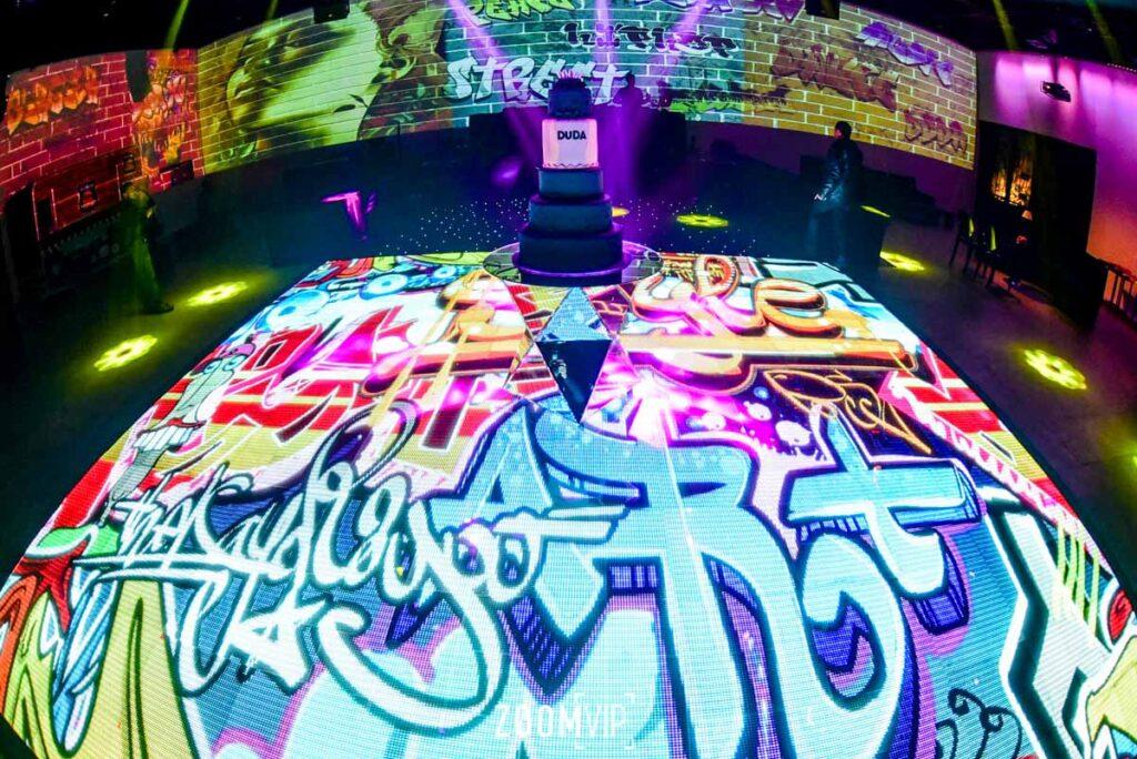 Piso de Imagem em festa com temática Hip Hop