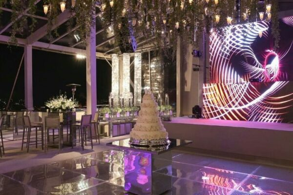 painel led casamento