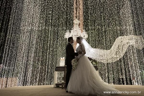 iluminacao casamento cortina luzinhas