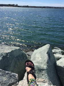 One of my many prayer spots in the  beautiful San Diego Embarcadero Bay.