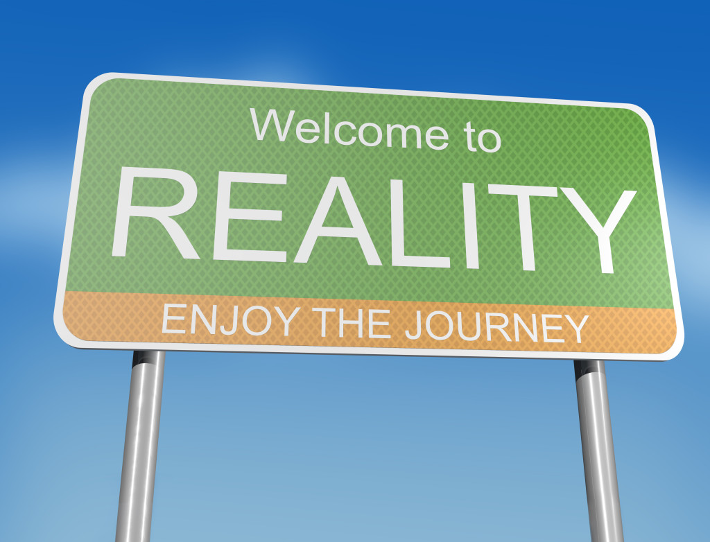 Welcome to Reality - Road sign