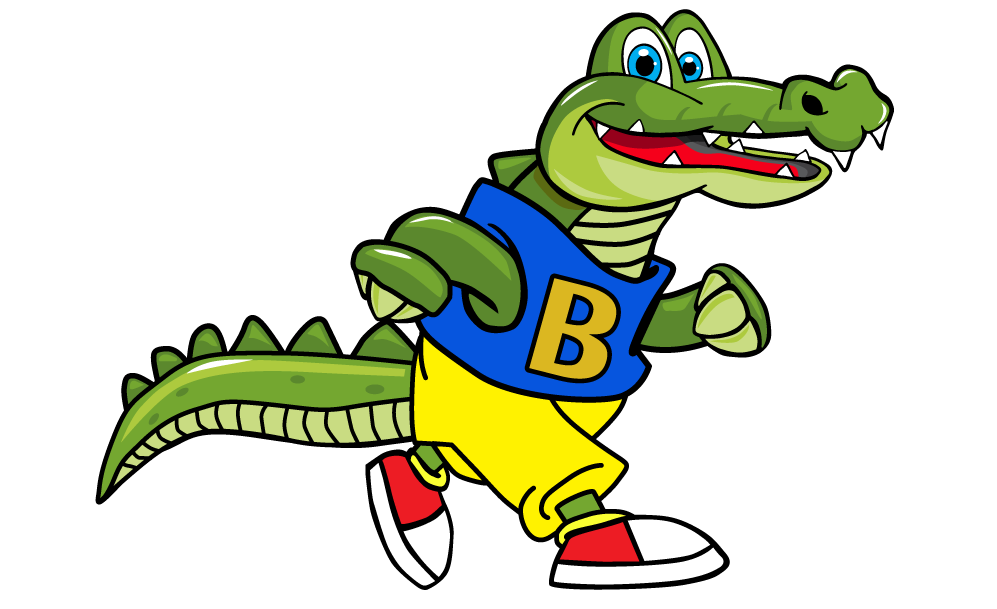 Al E. Gator walking upright!