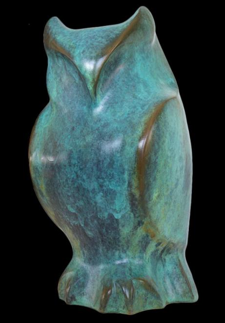 "Sarah Seabury Ward, ""Owl"", Bronze"