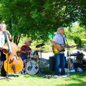 Marv Machura playing with some friends at Justice Park Vernon