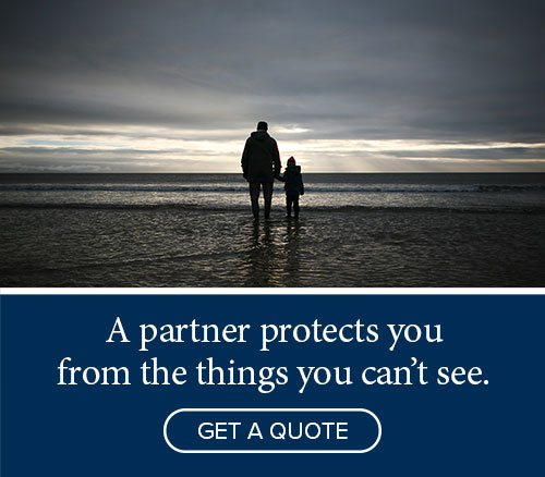 A partner protects you from the things you can't see - Get a quote