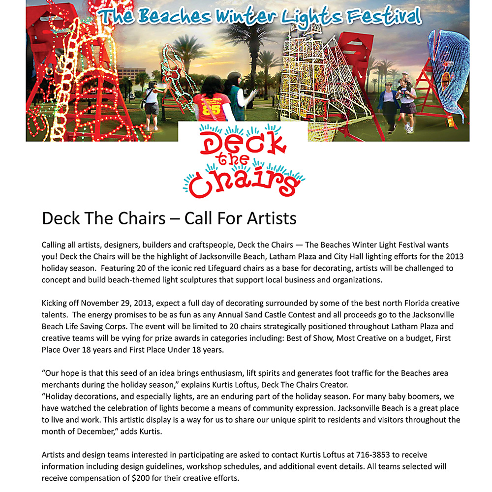 2013 Deck The Chairs^Engaging Artists & Craftsmen