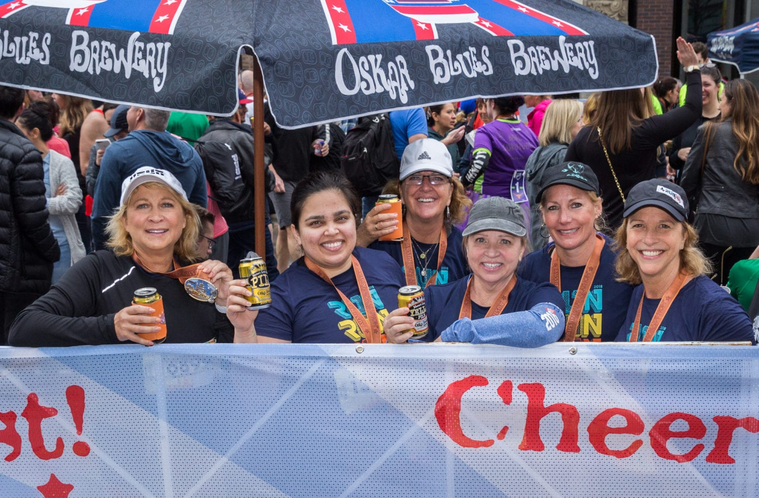 beer garden: perks of the 2019 Austin Marathon
