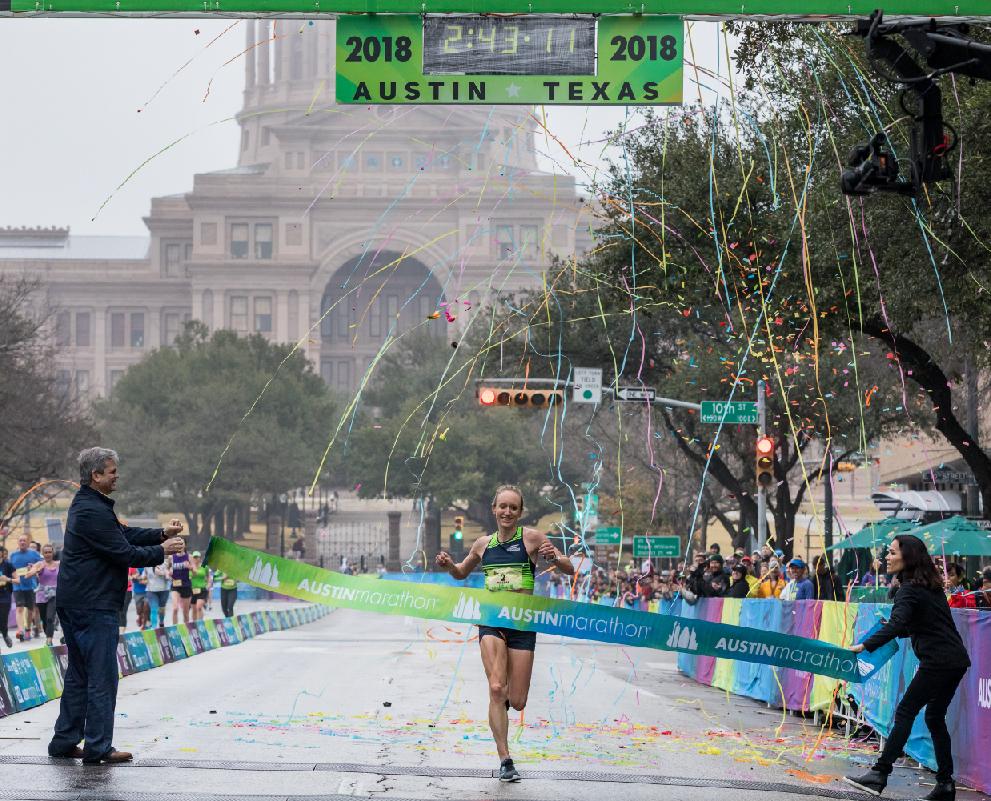 austin marathon female champion elite field