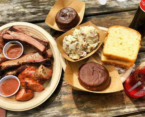 Fantastic Austin BBQ can be found at Micklethwait.