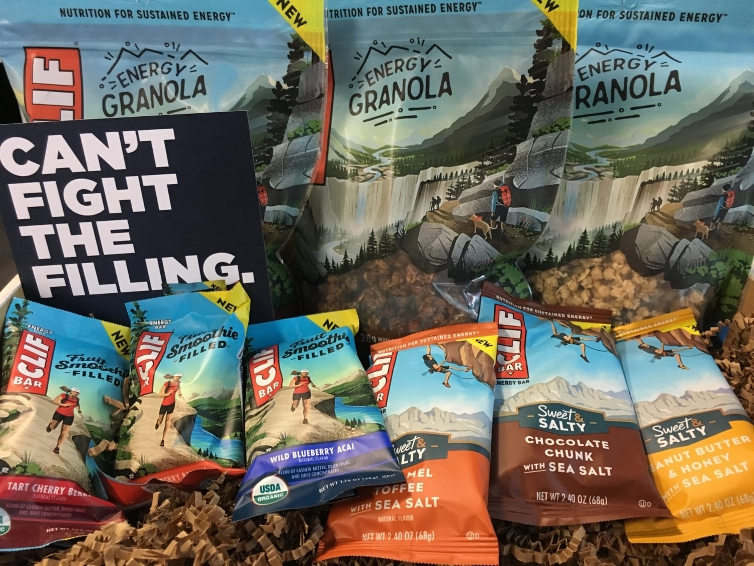 So many Clif Bar products to choose from!