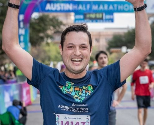 Every time someone crosses the Austin Marathon finish line, inspirational running stories are made!
