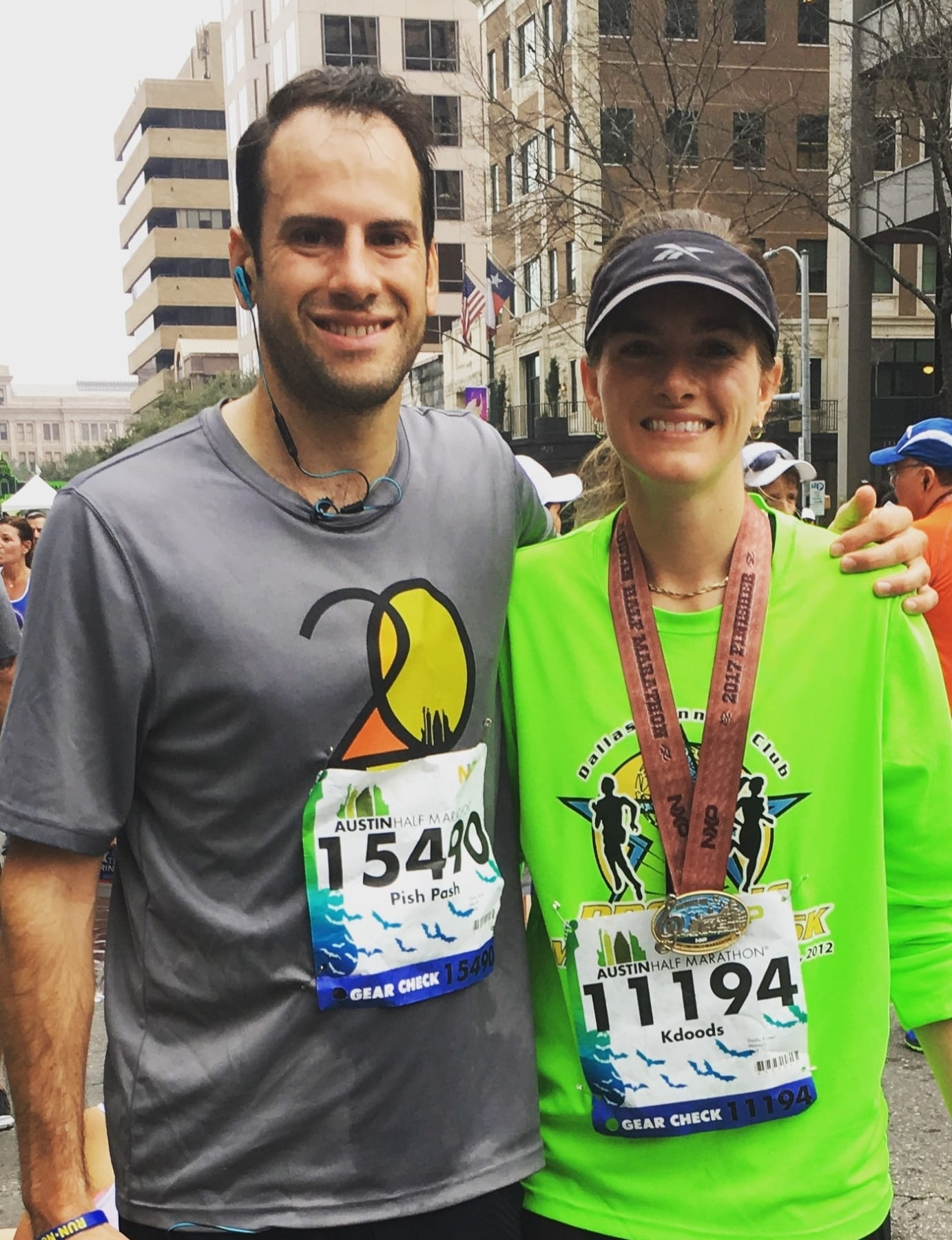 Kirsten met the love of her life on Valentine's Day at the Austin Half Marathon.