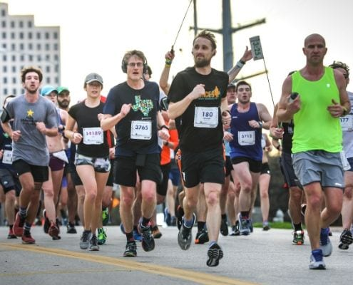 Austin Marathon participants utilized long training runs before race day.