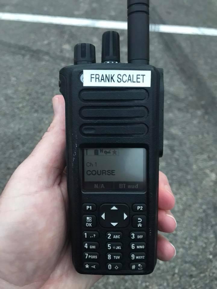 Frank Scalet's race-day radio for the 2019 Austin Marathon.