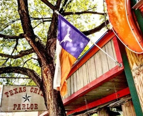The Texas Chili Parlor, one of the Austin Marathon's favorite Austin restaurants on the course.