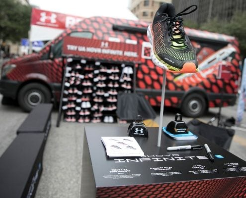 Under Armour's return means the UA Recovery Zone will return to the Austin Marathon finish line festival.