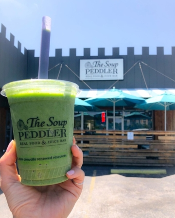 Image of Soup Peddler smoothie, a great place to grab breakfast in south Austin.