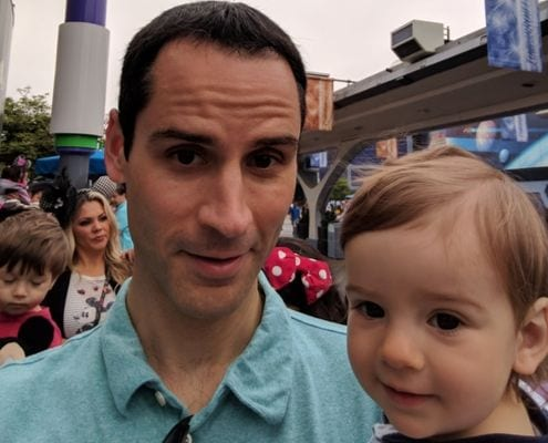 Jeremy Tavares poses with his kid. His ultimate running goal will culminate with the 2020 Austin Marathon.