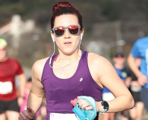 RunnerRunner cruising the streets of Austin at the 2019 Austin Marathon. Follow this free 5K training plan and you'll crush the 2020 Austin Marathon KXAN Simple Health 5K.