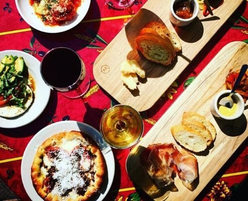 Appetizer spread at Enoteca Vespaio. They're one of the Austin Marathon's five recommended south Austin restaurants. Credit: Enoteca Facebook page.