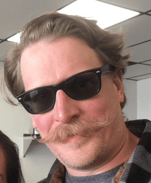 Image of Scott Moore and his famous moustache.