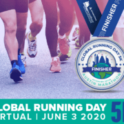 Image displaying the Austin Marathon's free Global Running Day Virtual 5K digital finisher medal.