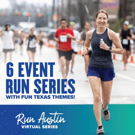 Run Austin Virtual Run Series - 6 Event Series with Fun Texas Themes