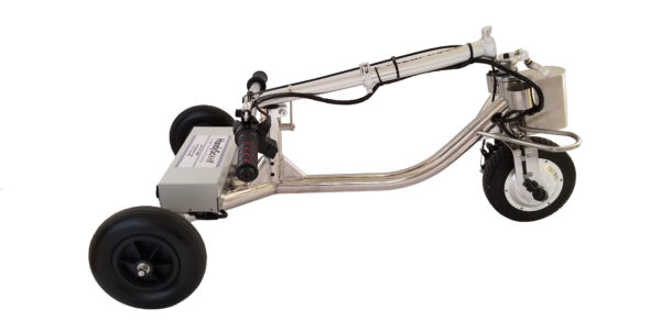 HandyScoot travel scooter Folded no seat