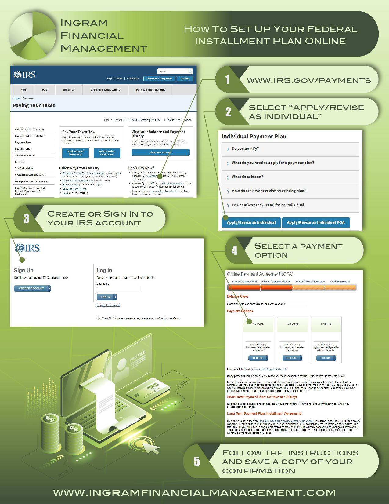 Ingram Financial Management Set Up Installment Plan Online