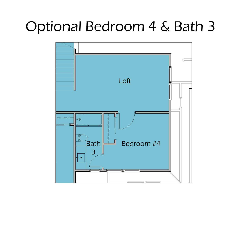 Heartland Plan T3 - Optional Bedroom 4 Bath 3