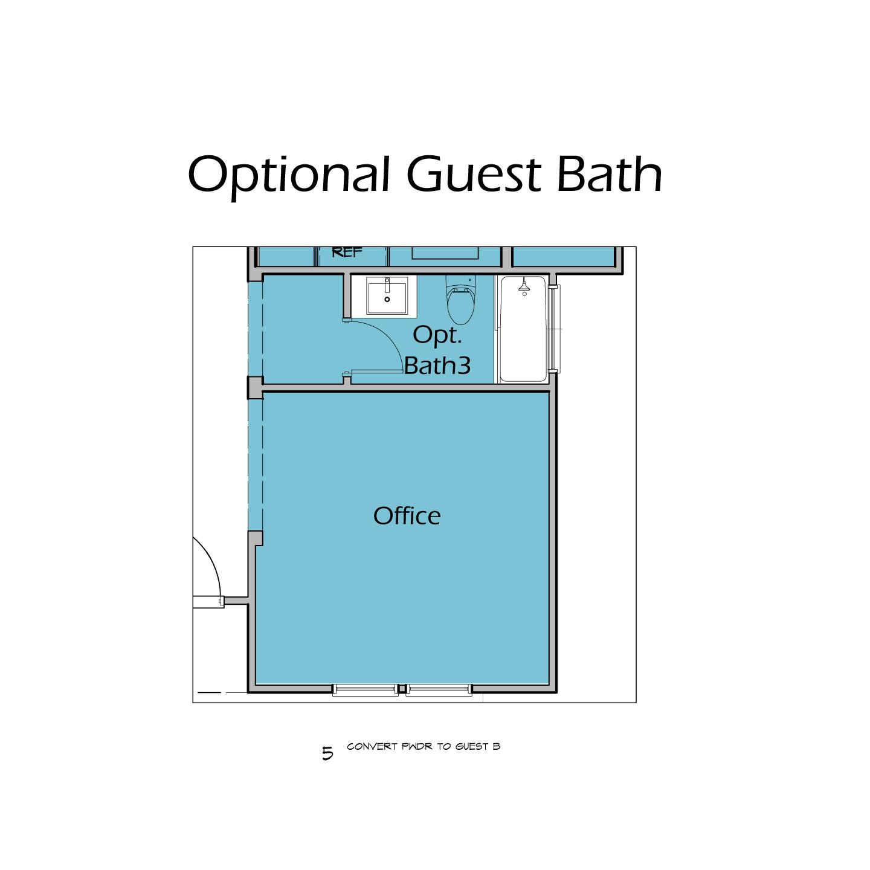 Heartalnd Plan T3 Optional Guest Bath