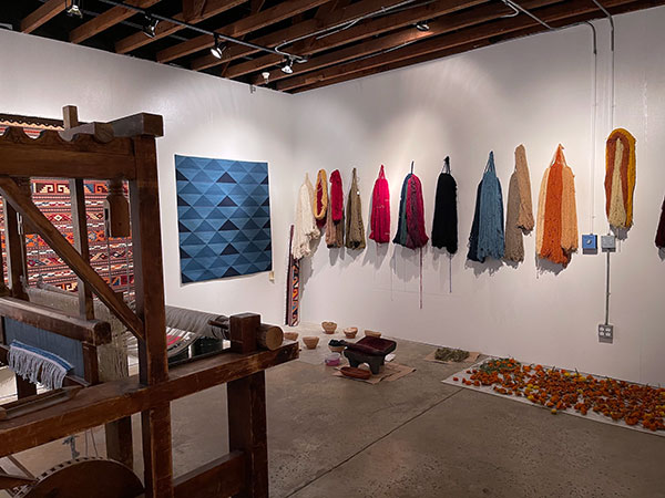 Porfirio Gutiérrez studio in Ventura, California