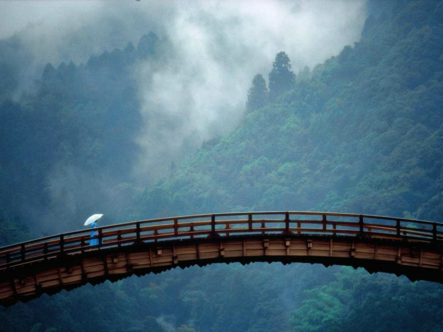 Kintai Bridge,Yamaguchi.Japan