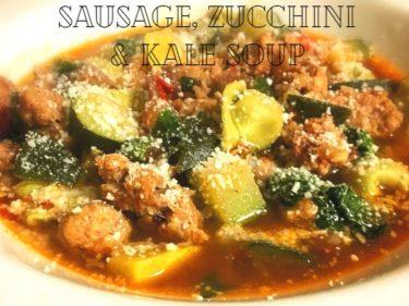 Zucchini-Kale-Sausage Soup - pic