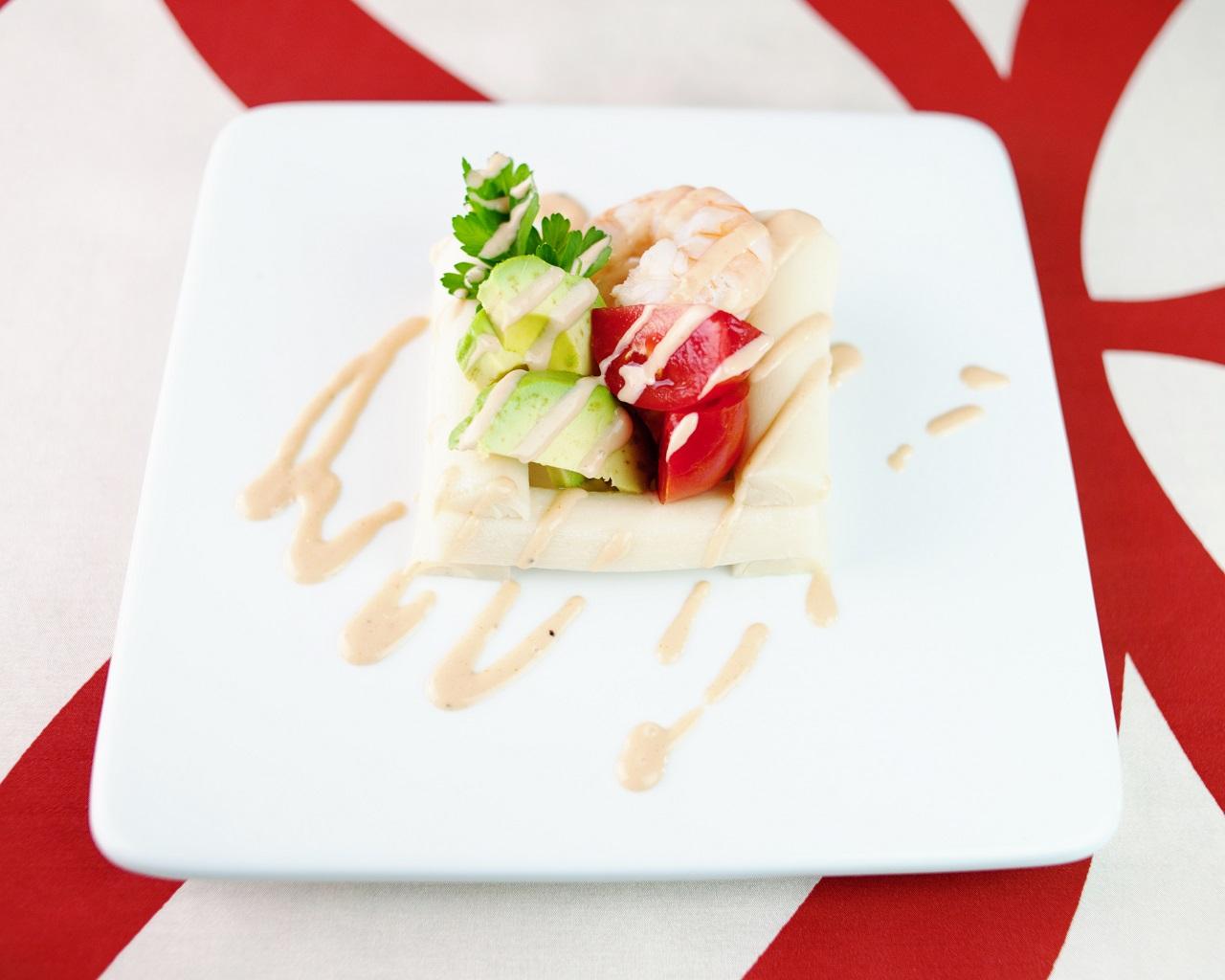 Palmitos, Poached Shrimp, Salsa Golf